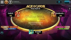 Playing Age of Gods, Fast Poker Tournament on WilliamHill