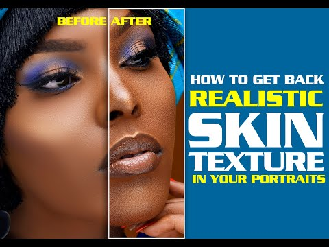 PHOTOSHOP TUTORIAL: How To Create Realistic Skin Texture (The Full Tutorial 2020)