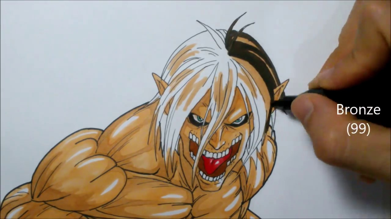 Como Dibujar A Eren Titan Attack On Titan How To Draw Titan Eren