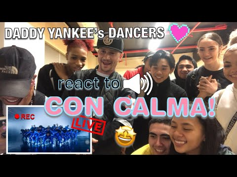 Daddy Yankee's Dancers React to Con Calma