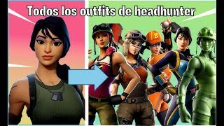 🔴 ALL HEADHUNTER SKINS ALL FORTNITE OUTFITS 🔴