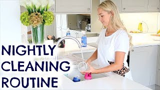 EVENING CLEANING ROUTINE OF A MUM / MOM  |  NIGHTLY CLEANING  EMILY NORRIS