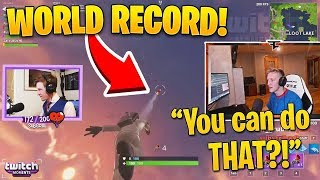 "Tfue Reacts to ""WORLD RECORD GRAPPLER TRICK!"" (Twitch Moments Fortnite Reaction)"