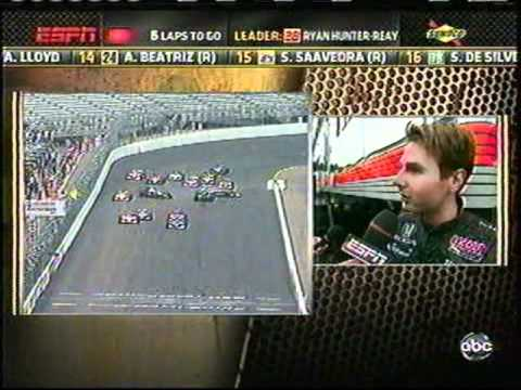 2011 Indycar Loudon - Failed Restart on a Wet Track Causes a Chain Reaction Crash and Ends the Race