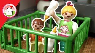 Playmobil Film deutsch - Anna und Lena spielen Baby -  Kinderfilm Familie Hauser
