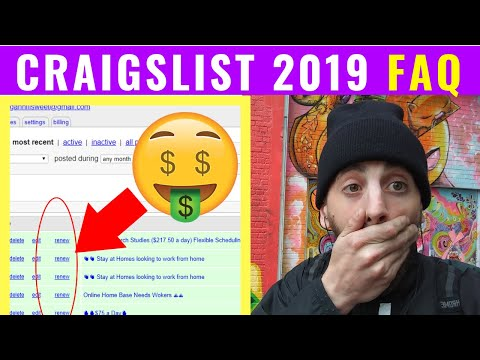 UPDATE! How To Post ads on Craigslist 2019