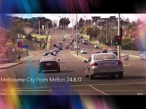 Melbourne City Drive From Melton Victoria Australia