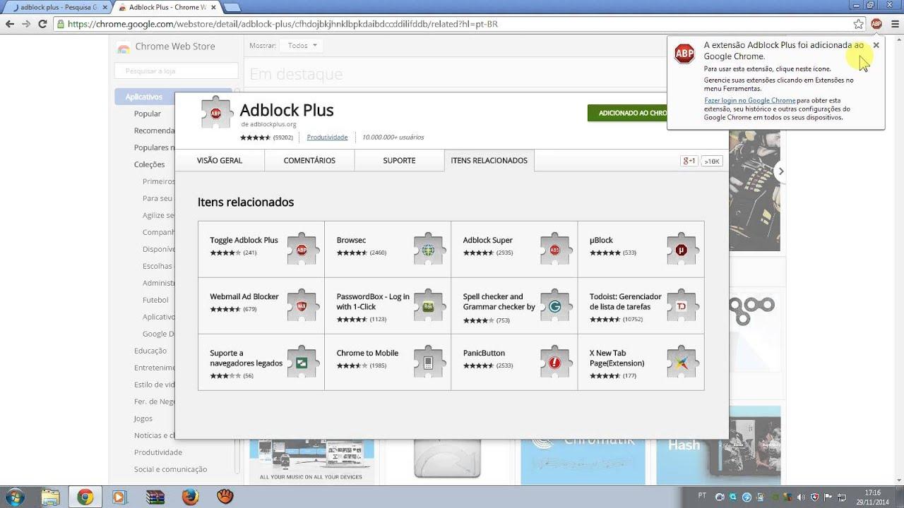 Como Baixar Adblock Plus (Google Chrome)