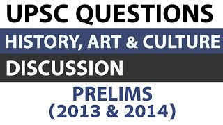 Art and Culture + Indian History questions - UPSC Prelims 2013 2014 Paper analysed