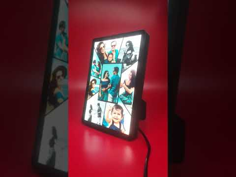 SMALL HD LED STAND PHOTO FRAME COLLAGE 6X8INCH | PERSONALIZED PHOTO GIFTS