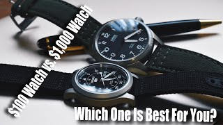 A $100 Watch vs. A $1,000 Watch...Which Is Better For You?