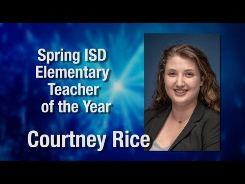Courtney Rice - Spring ISD Elementary Teacher of the Year