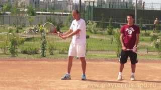 Уроки тенниса. Укороченный удар.