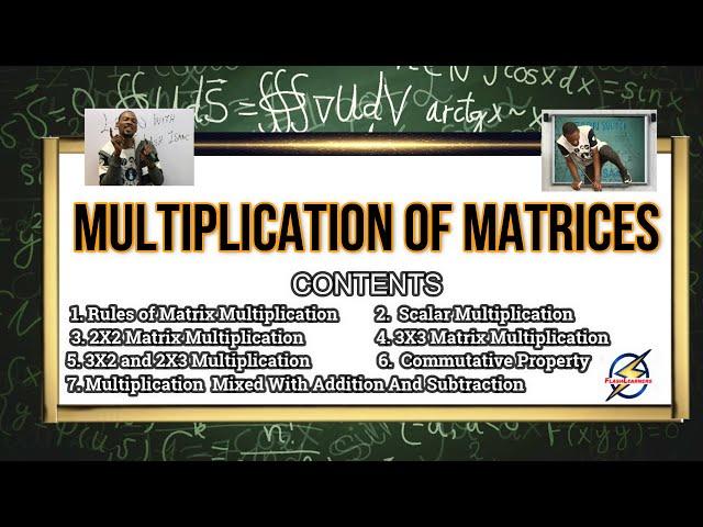 Matrix Multiplication For Schools, Jamb & Waec