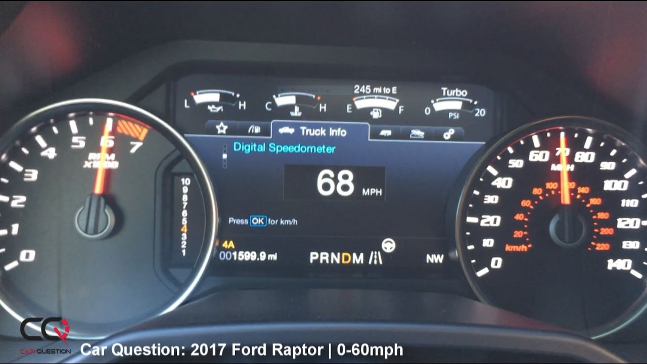 2017 Ford Raptor | 0-60mph Acceleration Test! - YouTube