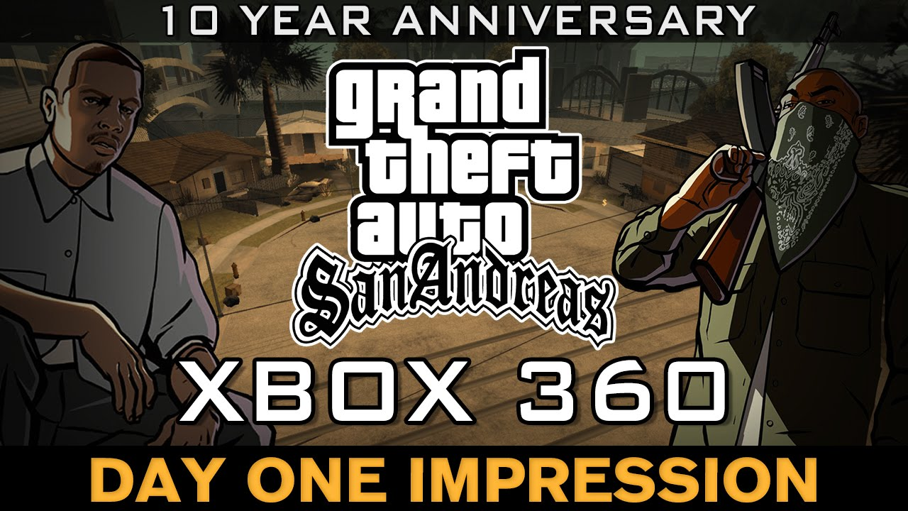 d9239dd199 Grand Theft Auto - San Andreas on Xbox 360 (Menu, Cutscene & Intro) -  YouTube