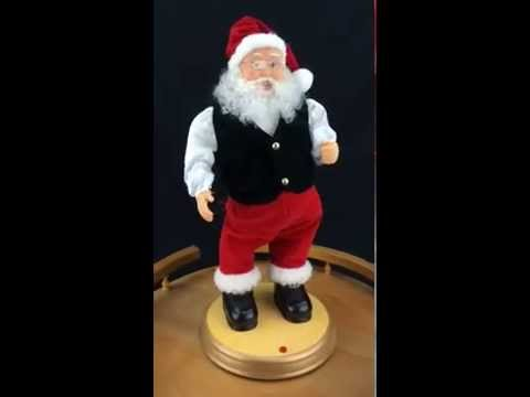 Gemmy hip swinging santa claus animated christmas for Animated santa claus decoration