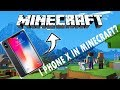 I PHONE X IN MINECRAFT ??? (HOW  IT WORKS?)  MOD REVIEW