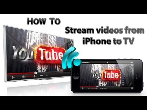 How to stream/pair videos from iPhone to TV wireless
