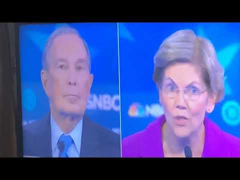 Elizabeth Warren Destroys Mike Bloomberg On #MeToo NDAs At 2020 MSNBC Democratic Debate