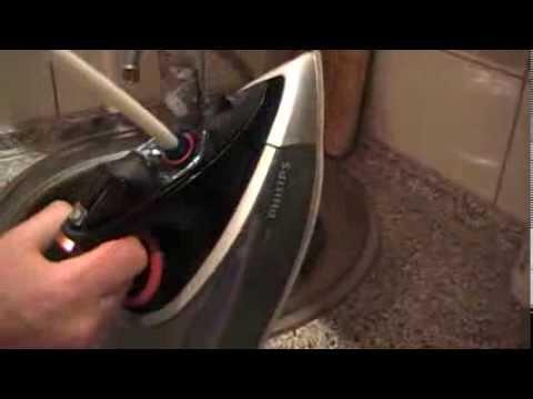 Как почистить утюг от накипи PHILIPS GC 4490