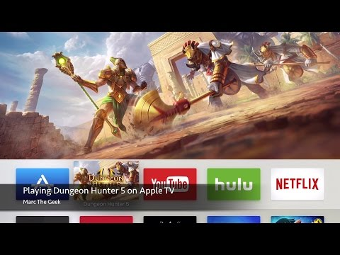 Playing Dungeon Hunter 5 On Apple TV
