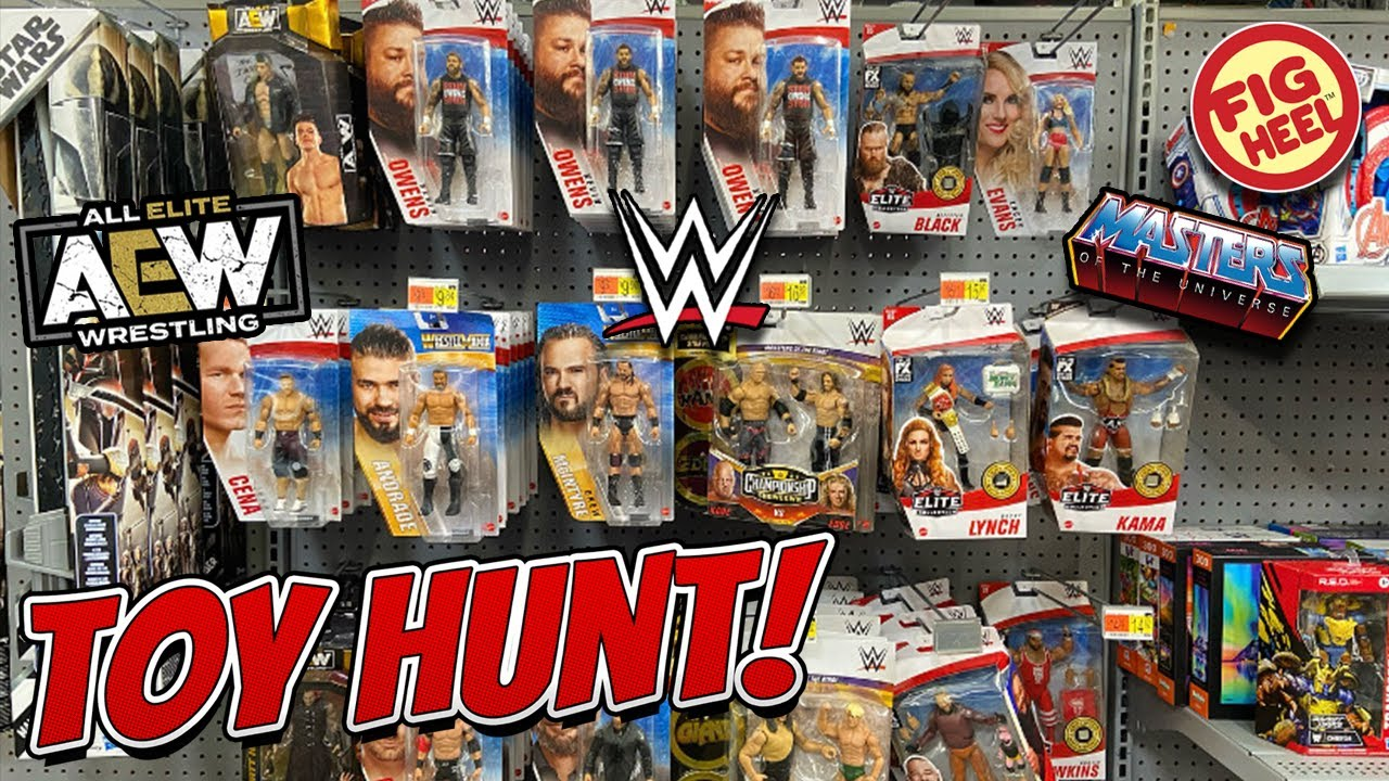 EPIC Toy Hunt - AEW Unrivaled Action Figures, WWE Elite 85, Chases, MOTU Revelation, DC, & More!