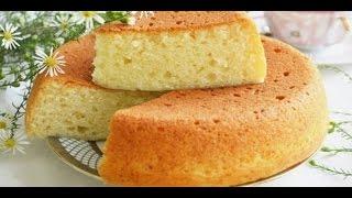 Пышный домашний бисквит без яиц)