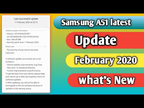 Photo of Samsung A51 latest February 2020 security UPDATE – سامسونج
