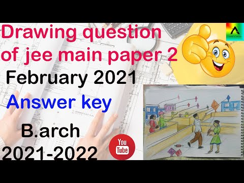 solve drawing question / answer key  of jee main paper 2 february 23 b.arch 2021 nta 2021