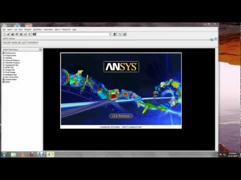 Simulation of Plate Casting on ANSYS [Mapped Mesh].avi