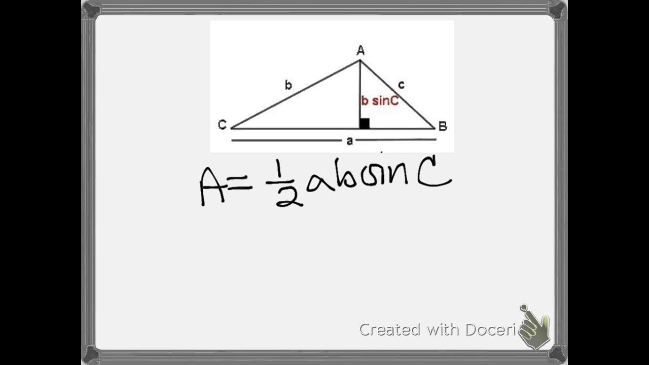 Area Of A Nonright Triangle How To Find The Area Of A Right Angled Triangle  Youtube