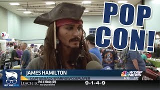 Just Some Nerd on the Local News as Captain Jack Sparrow