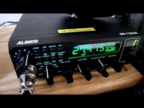 Alinco DR-135 UK External DSP AM Mode Mostly - YouTube