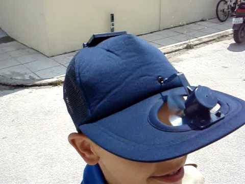572fe41b3c2 solar powered hat fan - YouTube