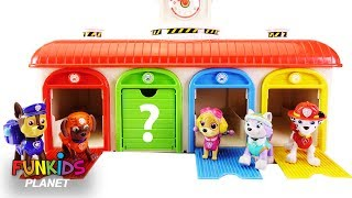 Learn Colors Videos For Children: Help Find Match Paw Patrol Pups Who is Behind the Garage Door