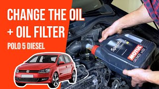Change the oil and the oil filter POLO 5 1.6 TDI 🛢