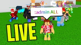 ROBLOX ADMIN COMMANDS LIVE! w/ FANS!