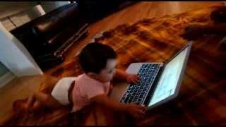 Cute Computer Expert Baby