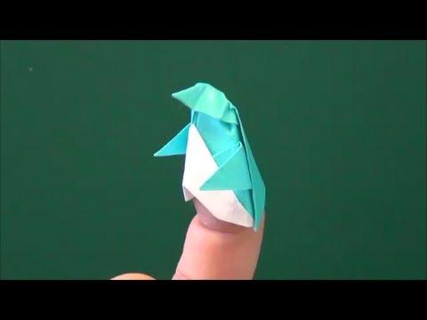 「ペンギンの指人形」折り紙Finger puppet of peng