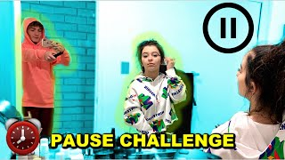 PAUSE CHALLENGE with BOYFRIEND For 24 Hours *bad idea*