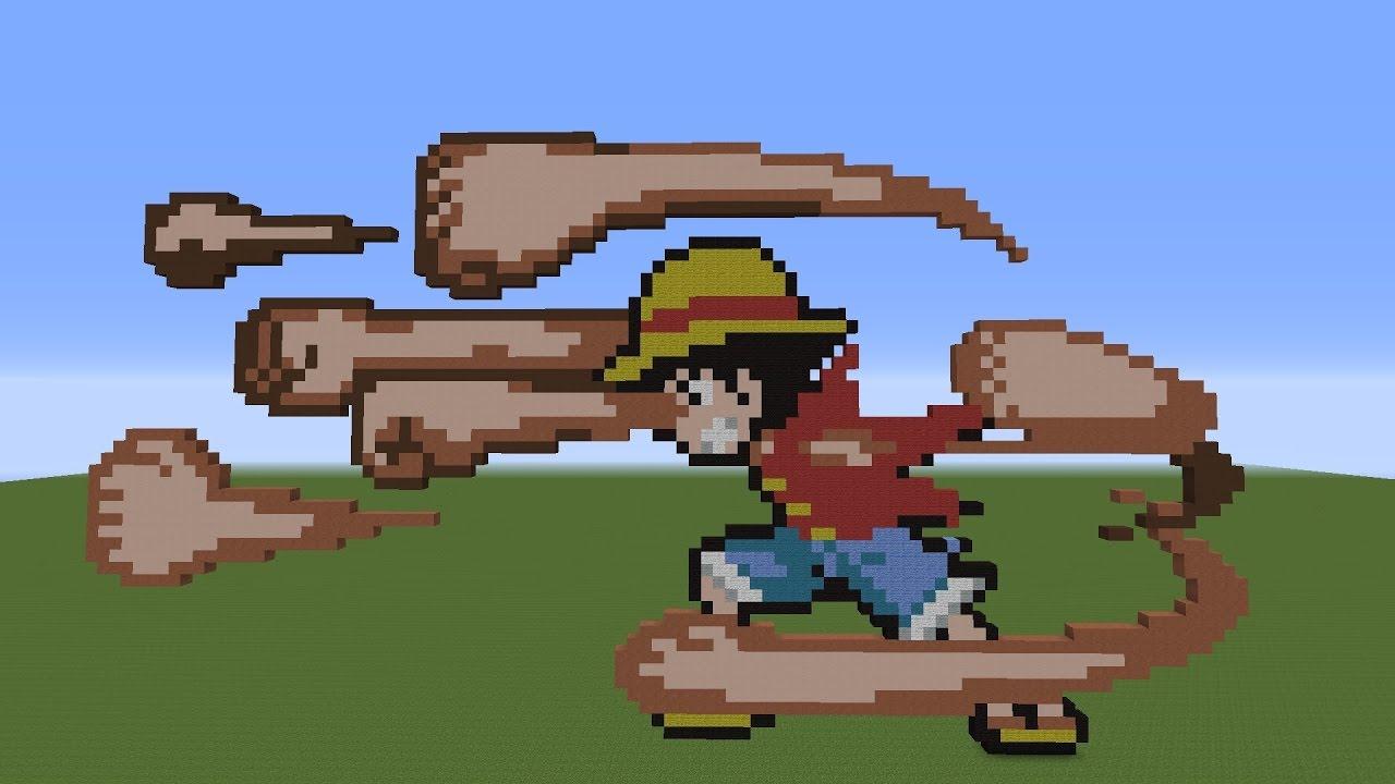 Pixelart Minecraft Monkey D Luffy Resubido Youtube