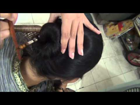 How To Bind Hair Style Simple Juda With Stick Youtube