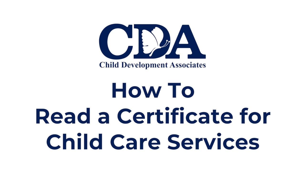 Cda Certificate Ex1 Change Of Hours Youtube