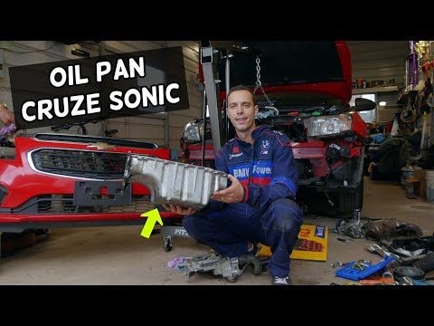 OIL PAN REMOVAL REPLACEMENT  OIL LEAK FIX ECOTEC 1.8 CHEVROLET CRUZE CHEVY SONIC