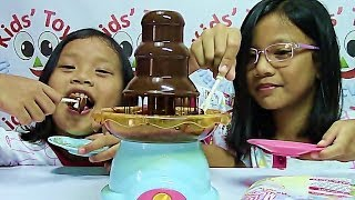 Play Go Chocolate Fountain Makes Fun and Delicious Desserts - Kids' Toys(Hi! Here is Play Go Chocolate Fountain that makes fun and delicious desserts. Pour the chocolate onto the base of the chocolate platter. Turn on the power ..., 2014-06-06T05:21:49.000Z)