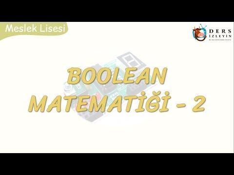BOOLEAN MATEMATİĞİ - 2