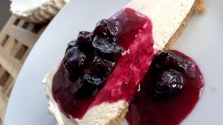Easy Blueberry Cheesecake - No Bake