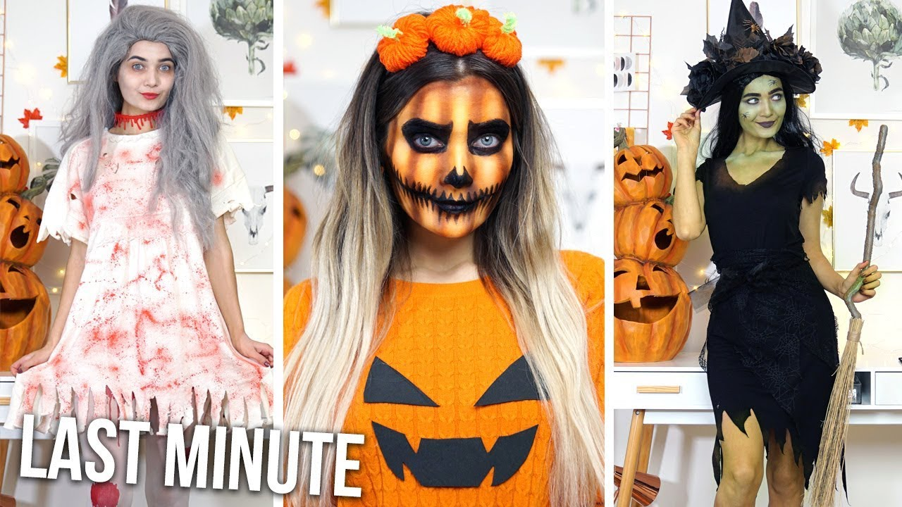 DIY LAST MINUTE HALLOWEEN COSTUME IDEAS! AD