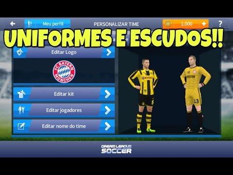 Como colocar kits e logos no Dream league soccer 17 (Uniformes e escudos)!!
